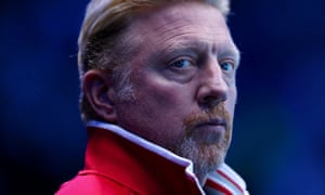 Boris Becker, coach of  Novak Djokovic, looks on during his men's singles match against Milos Raonic of Canada on day three of the ATP World Tour Finals at O2 Arena on November 15, 2016 in London, England.
