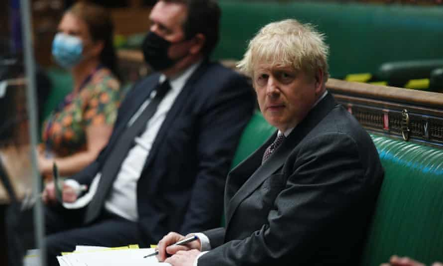 Boris Johnson at prime minister's questions