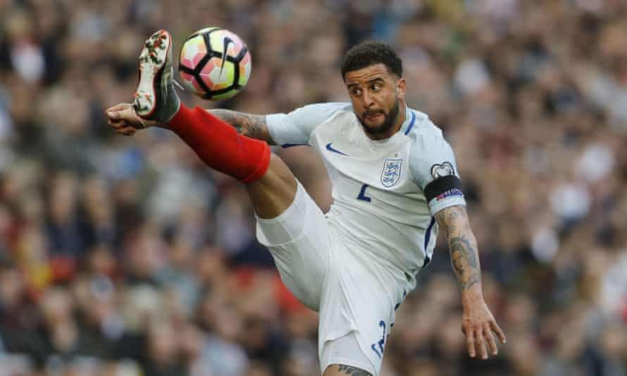 Kyle Walker, in action here for England, is set to move from Tottenham to Manchester City.