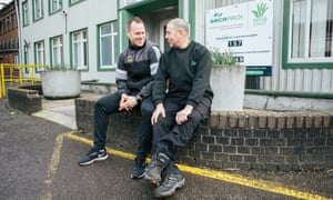 Michael Flynn and Raymond Pulis in conversation at the docks.