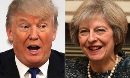 Donald Trump and Theresa May composite image