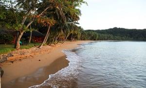 Bom Bom island resort beach at dawn