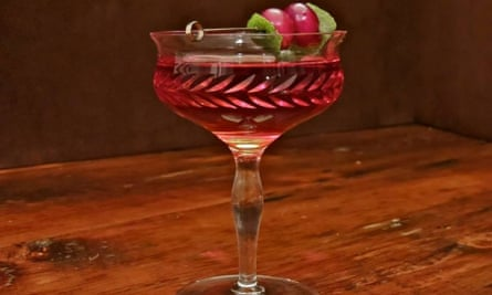 A cranberry-based cocktail at the Nautilus Nantucket