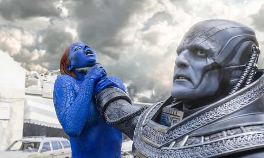 Adding stars and losing character… Jennifer Lawrence and Oscar Isaac in X-Men: Apocalypse.