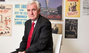 John McDonnell at Labour party HQ