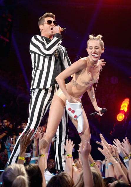 Miley Cyrus and Robin Thicke.