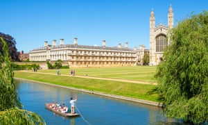 The river Cam flows past Kings College
