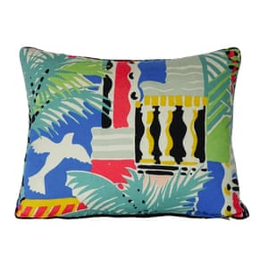 Cote d'Azure cushion, Samoa, £48.50, sarahcampbelldesigns.com