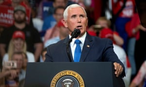 Mike Pence speaks during Donald Trump's 2020 re-election bid announcement in Orlando, Florida.