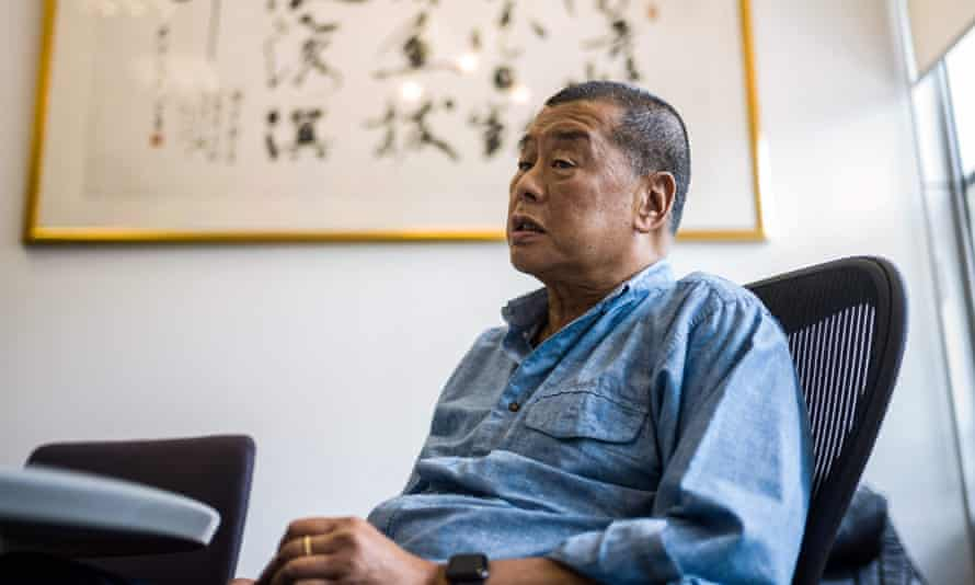 Jimmy Lai speaks during an interview with AFP in June 2020