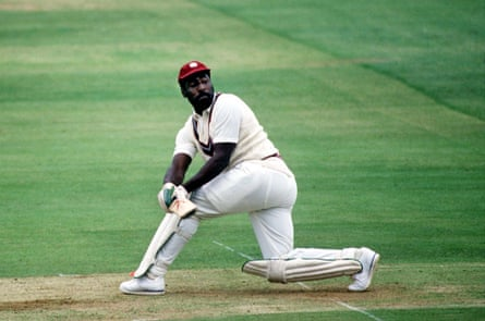 Viv Richards in action at Lord's in the second Test.