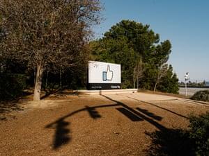 The Facebook headquarters in Menlo Park, California.