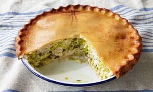 Rosie Sykes' chicken, leek and tarragon pie.