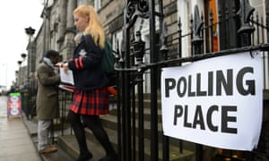 A young voter in Edinburgh