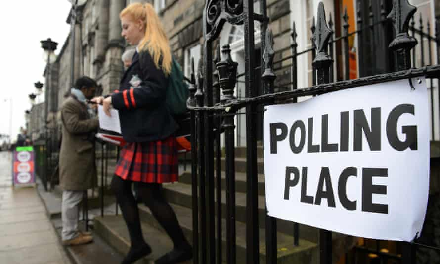 A young voter leaves a polling station during the Scottish independence referendum in September 2014, in which 16- and 17-year-olds were able to vote