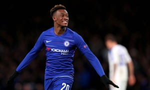 Callum Hudson-Odoi delighted the Chelsea supporters with his goal