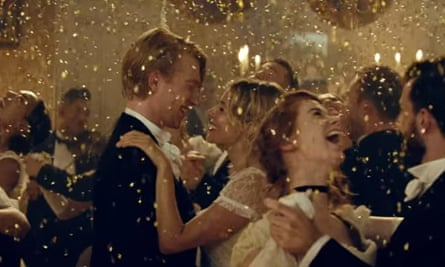 Domhnall Gleeson and Sienna Miller in Burberry's Christmas ad