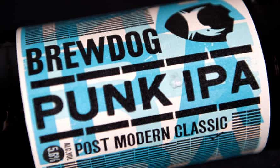 A bottle of Punk IPA, made British craft brewer BrewDog.