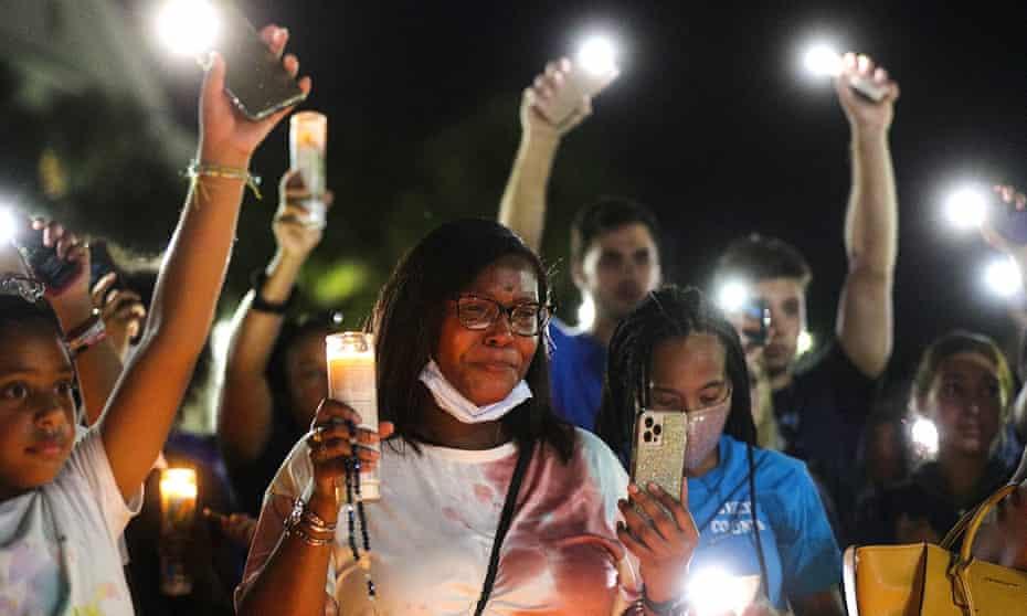 A candlelight vigil for Miya Marcano.