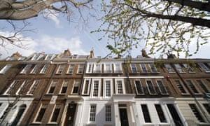 Terraced housing in Chelsea, London