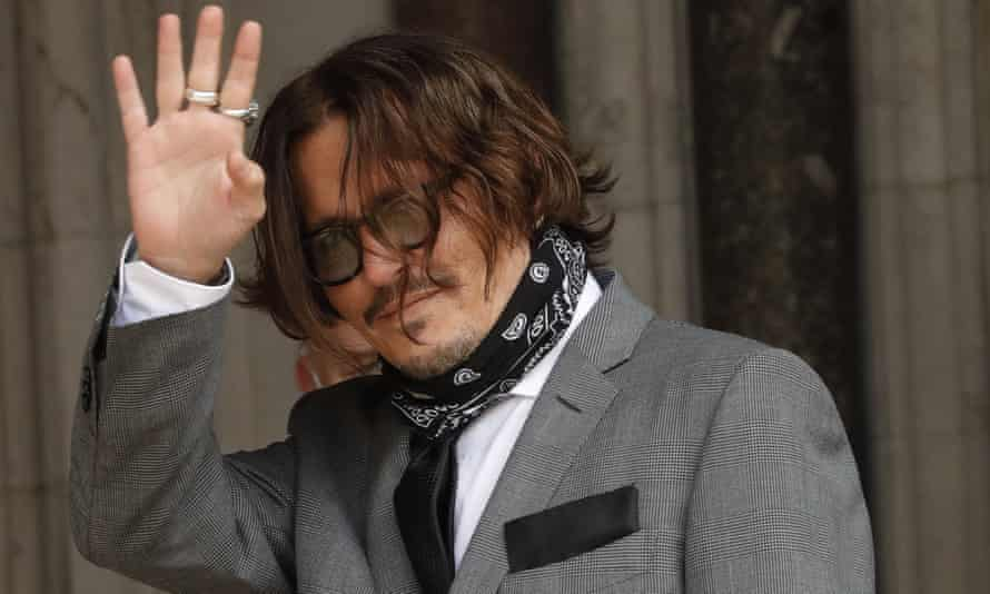 Johnny Depp arrives at Royal Courts of Justice in London