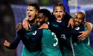 Tottenham's Erik Lamela celebrates scoring
