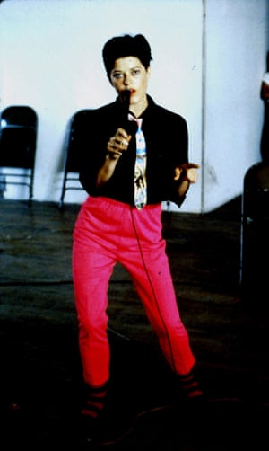 Diane Torr performing as part of DISBAND in the early 80s