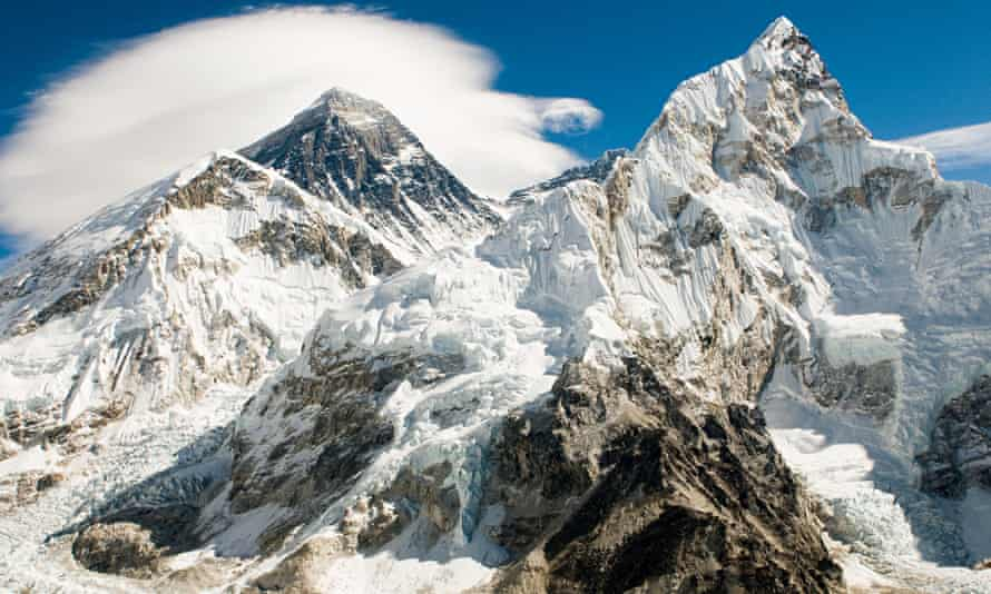 Mount Everest and Lhotse. Nirmal Purja completed both peaks and the nearby Makalu in 48 hours.