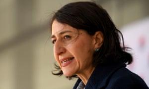 NSW premier Gladys Berejiklian at Saturday's Covid press conference