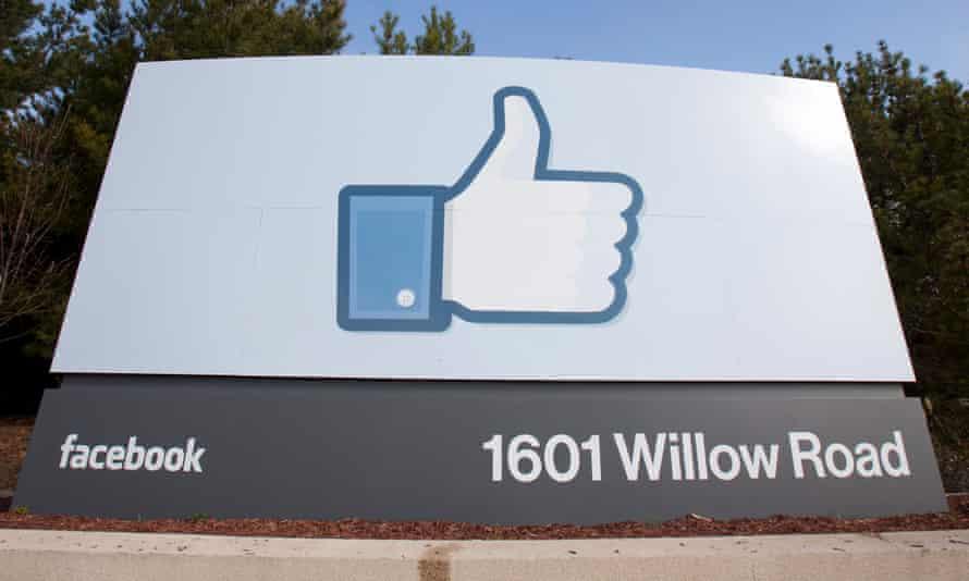 facebook like symbol on a company sign