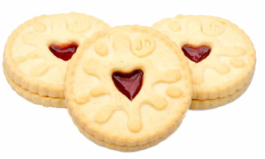 Jammie Dodger biscuits