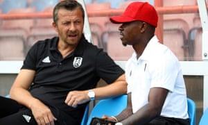 Fulham manager Slavisa Jokanovic with new signing Jean Michaël Seri