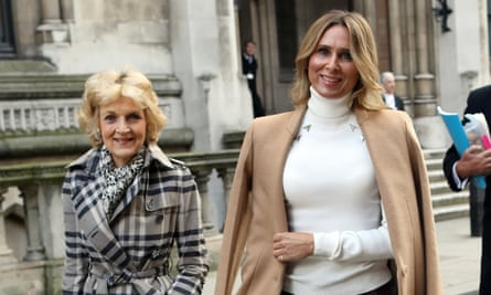 Tatiana Akhmedova, right, with her lawyer Fiona Shackleton outside the high court in London in February 2018.