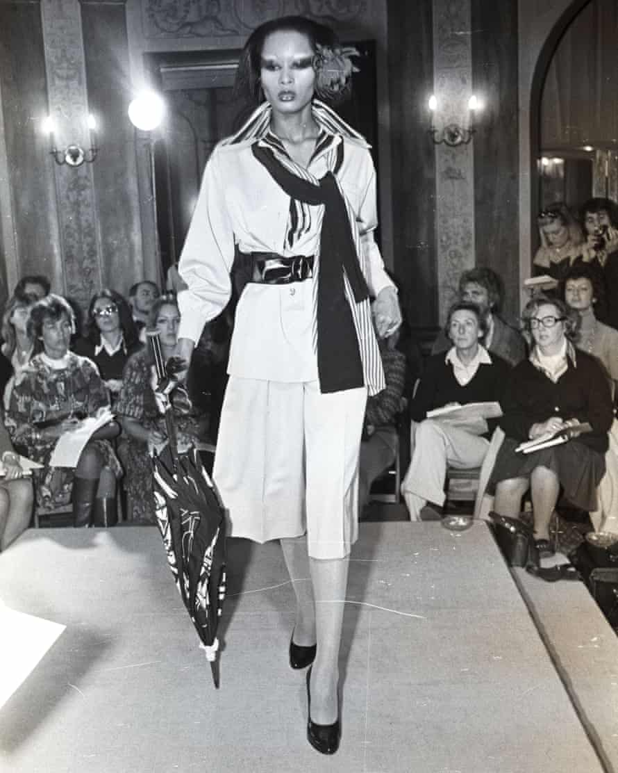 An ensemble from Karl Lagerfeld's Spring 1974 collection for Chloé.