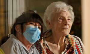 A care home worker and resident in Uxbridge
