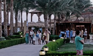 Tourists are waiting in Sharm el-Sheikh to hear how they will get home after the cancellation of flights.