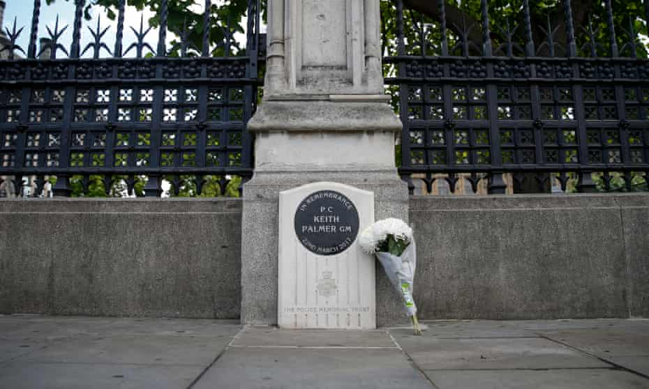 The Keith Palmer memorial stone in Westminster