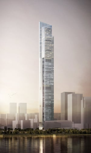 CTF Finance Center, is a mixed-use tower under construction in Guangzhou, China