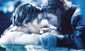 Letting go … Leonardo DiCaprio and Kate Winslet in Titanic.