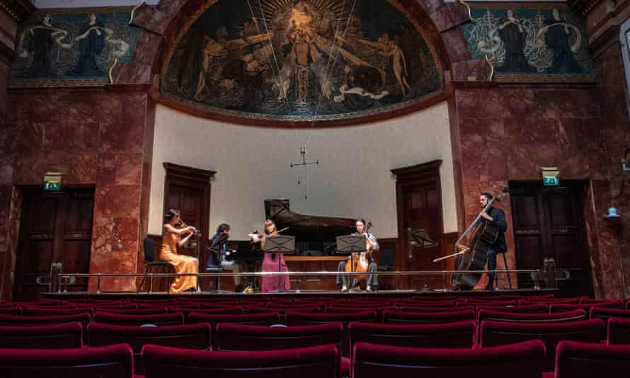 Musicians of the Kaleidoscope Chamber Collective at the Wigmore Hall in London last August.