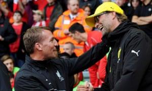 Brendan Rodgers and Jurgen Klopp in 2o14