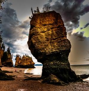 Hopewell Rocks in New Brunswick, Canada. The Hopewell Rocks, Flowerpots Rocks or The Rocks