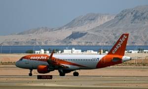 An easyJet plane prepares to take off from Sharm el-Sheikh