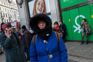 Feeling blue? Shoppers outside Benetton