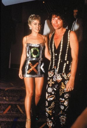 Kylie Minogue and Michael Hutchence going full sequins, 1992.