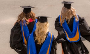 New graduates at a UK university.