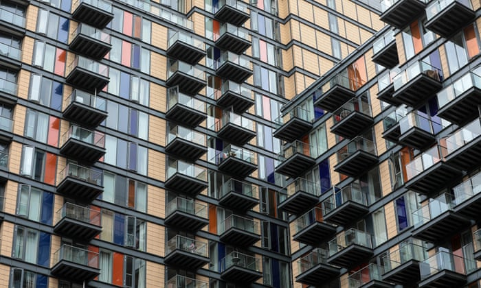 Residential flats in Canary Wharf, London