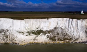 ( Bodies of two men and a woman found near white cliffs of Dover )