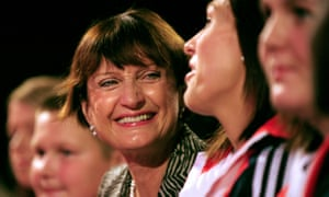 Tessa Jowell surrounded by colleagues and friends at the Labour party conference in Brighton in 2009.