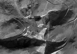 Photo made available by the Israeli Defense Forces showing an alleged reactor building of the al-Kibar facility in Deir al-Zour province, Syria.
